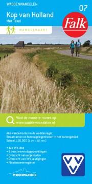 wandelkaart kop van Noord Holland