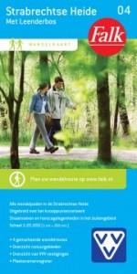 Wandelknooppunten wandelkaart Strabrechtse Heide